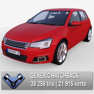 3d model generic hatchback club