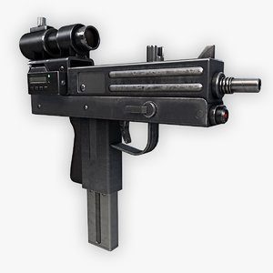 3d submachine gun model