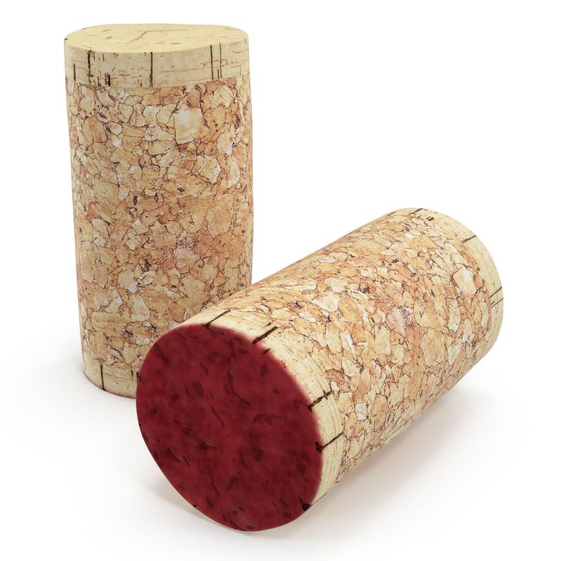 wine cork 2 3d max