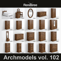 3d model victorian furniture