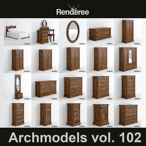 3d model victorian furniture