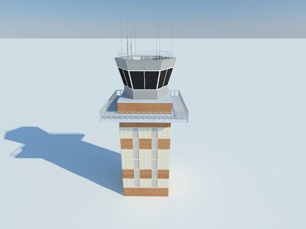 airport tower 3d model
