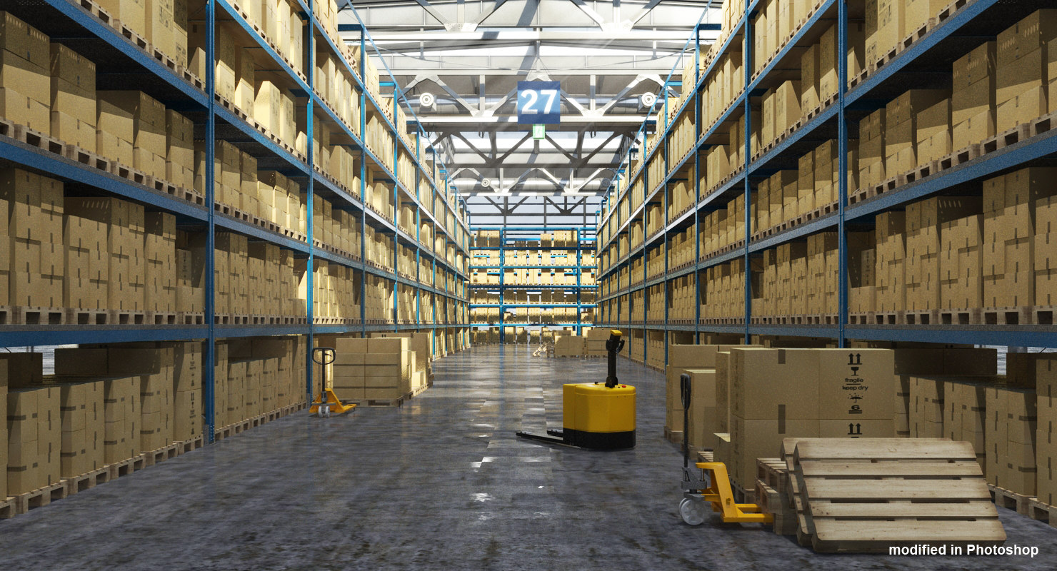 max warehouse boxes realistic