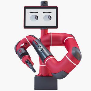 3d model sawyer industrial robot