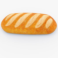 long loaf 3d obj