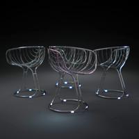 pan-am-chairs 3d obj