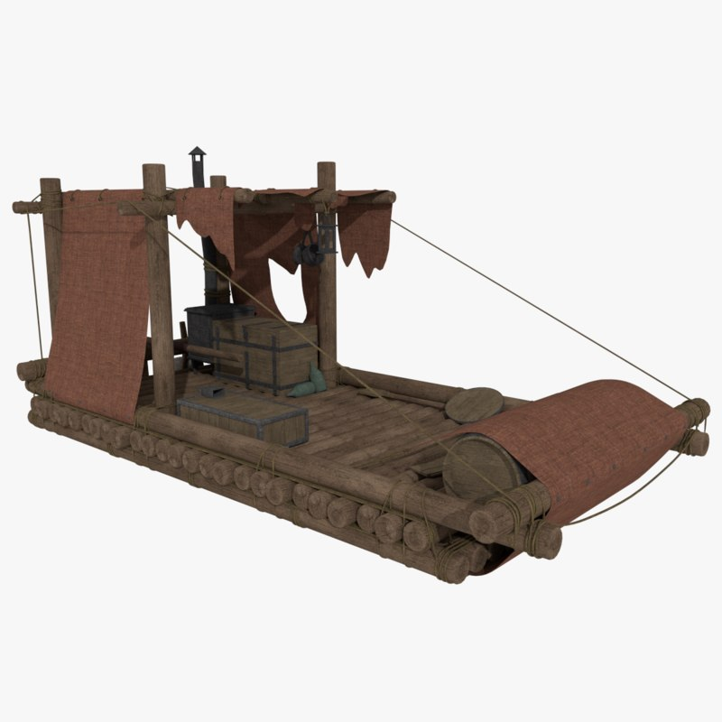 3d raft wood blender