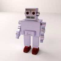 classic robot 3d model