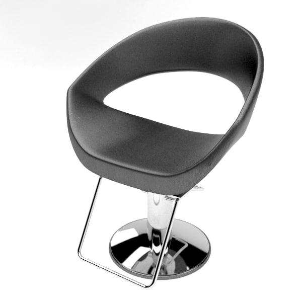 3d modern barber chair
