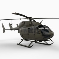 3ds max uh-72 lakota helicopter eurocopter