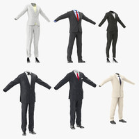 3d workwear suits model