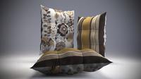 3d model buttoned pillow