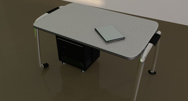 desk furniture 3d 3ds