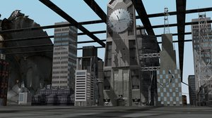 blend city building road human