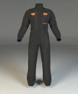 3d overalls model