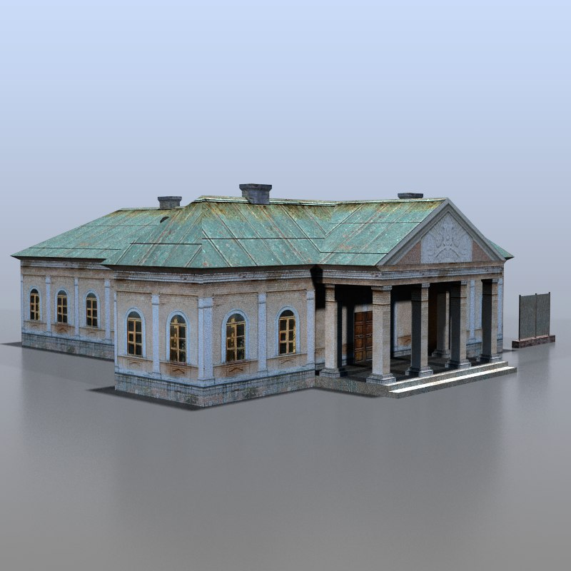 3d house russia model