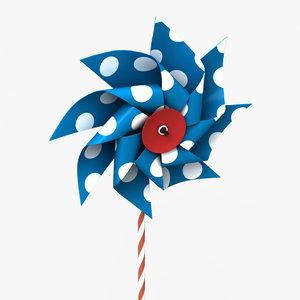 pinwheel wheel pin 3d model