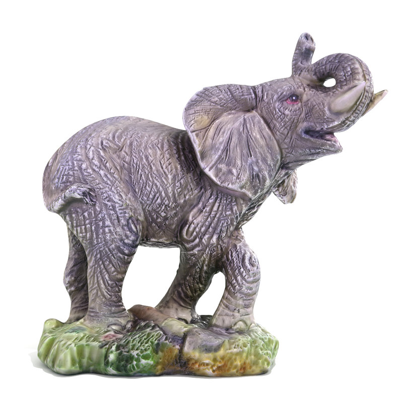 3d elephant statuette ready model
