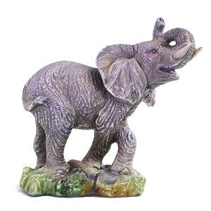 3d elephant statuette ready model