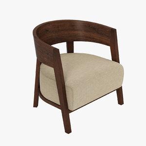3ds max flexform antony chair