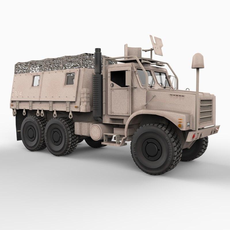 mk 23 mtvr desert storm 3d model