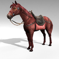 3d polygonal horses