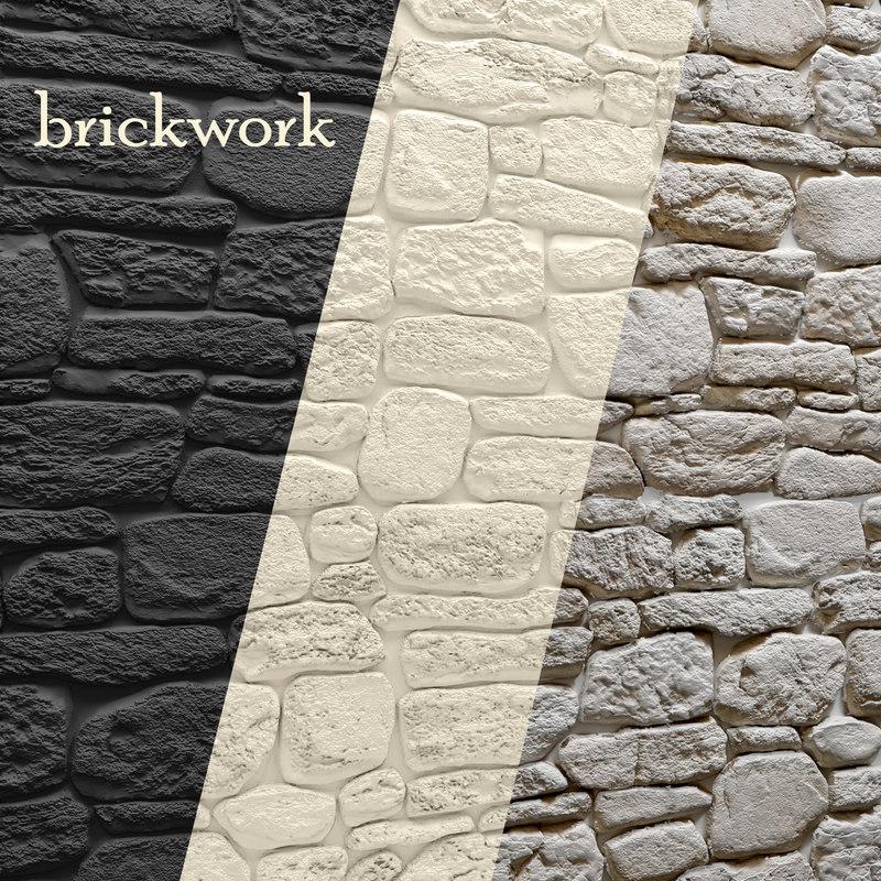 bricks wall obj