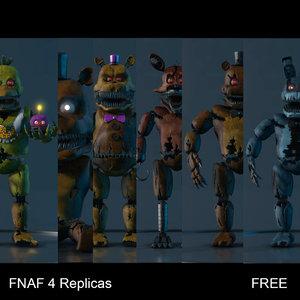 free nights s 4 animatronic 3d model