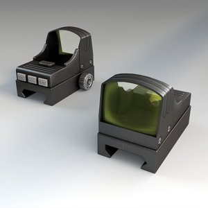 mini red dot sight 3d max