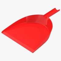 3d model dustpan modeled cleaning