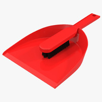 Dustpan and Brush 3D Models Set