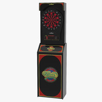 electronic dartboard machine 3d model