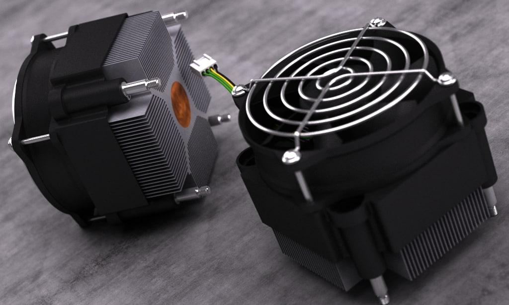 3d mc socket 775 heatsink model