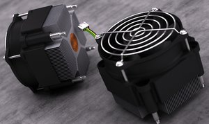 3d mc socket 775 heatsink model