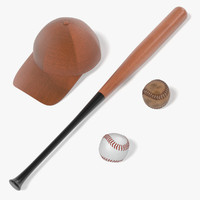 ball baseball base 3d model