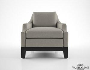 vanhamme cosy armchair 3d model