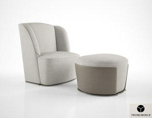 promemoria rosaspina armchair 3d max