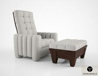 promemoria reclining armchair 3d max