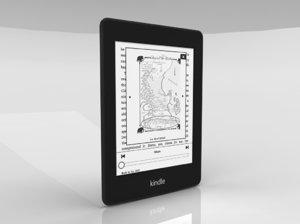 e-book amazon kindle paperwhite 3d model