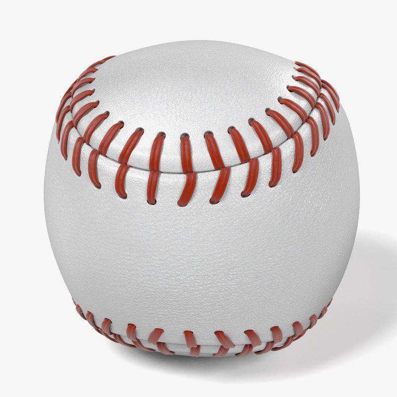 3d model ball baseball base