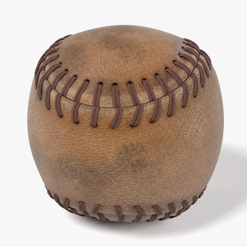 3d used baseball