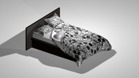 create bed 3d model
