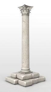 3d corinthian column model