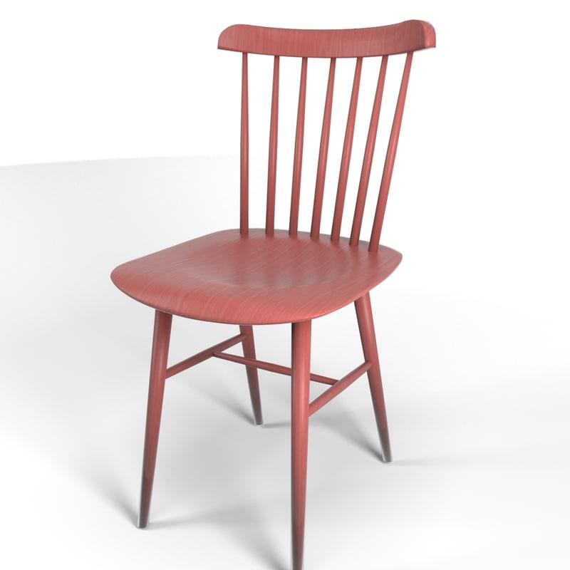 3d model tucker chair design