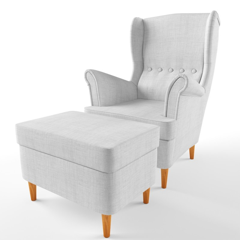 Strandmon Wing Chair Ikea 3d Max