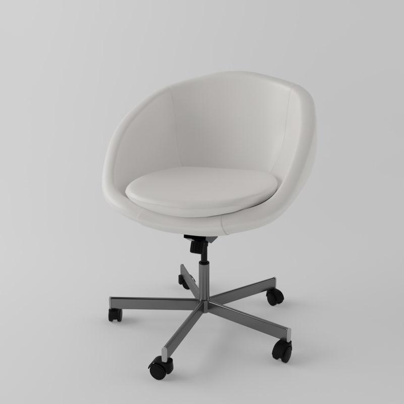 3d model ikea skruvsta swivel chair