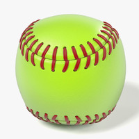 3d model ball soft softball