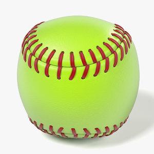 3d model ball soft softball