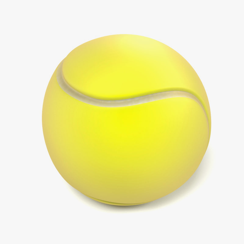 3ds max tennis ball