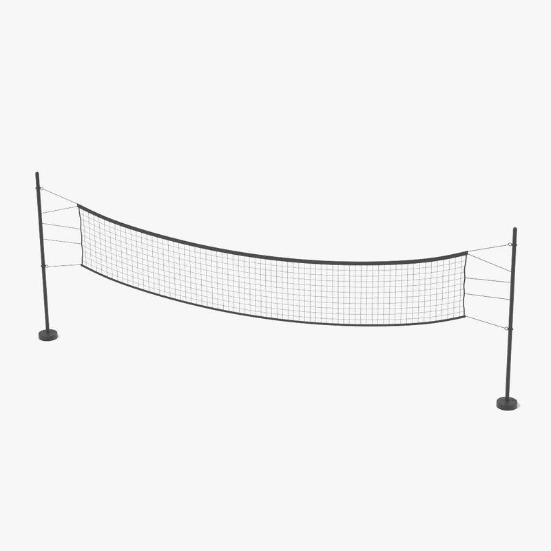 3d volleyball net